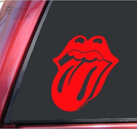 """6/""""x 1.3/"""" ROLLING STONES rouge musique Autocollant Mural Décoration Autocollant Vinyle"""