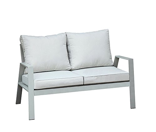 Furniture of America Cordelia Contemporary Loveseat With cushion, Gray Finish