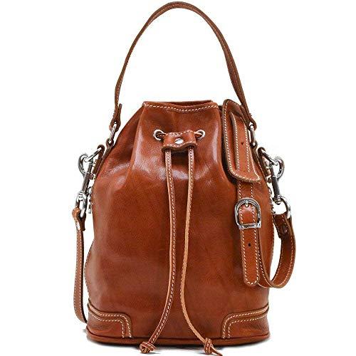 Floto Luggage Zip Pocket Ciabatta Satchel, Olive/Honey Brown, Small ()