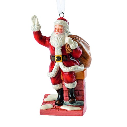 Royal Doulton Traditional Christmas Santa On A Chimney Ornament 3.1