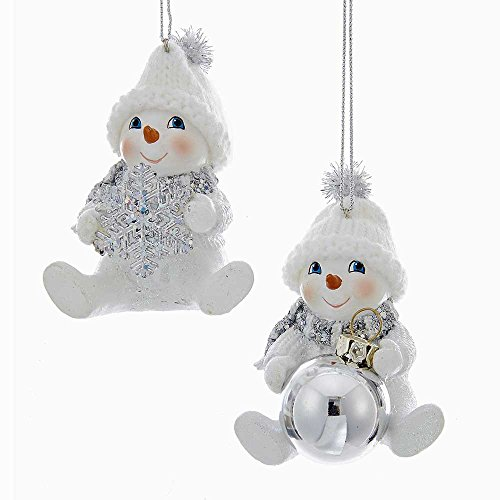 Kurt Adler YAMC9226 Snowman Ornament Set of 2