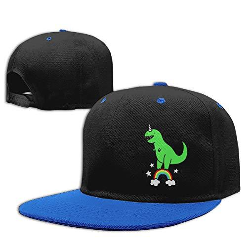 (Dino Rainbow Hip Hop Hat Cotton Baseball Hat Boy&Girl)
