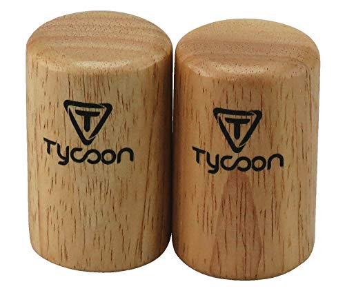 Tycoon Percussion Small Round Wooden Shaker, 2 Count