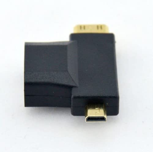 100pcs 3-in-1 1080p HDMI Female to Micro HDMI Male and Mini HDMI Male Type D C Adapter Connecter