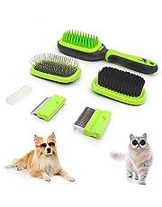 Sunshine Solution Professional Dog Brush for Dog Grooming- 5 in one Solution- Dematting Comb, Dog Comb , Deshedding Comb, Bristle Brush, Pin Brush, Bath & Massage Cat Brush and Pet brush