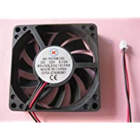 2 pcs Brushless DC Cooling Fan 12V 7015S 11 Blades 2 wire 70x70x15mm Sleeve-bearing Skywalking
