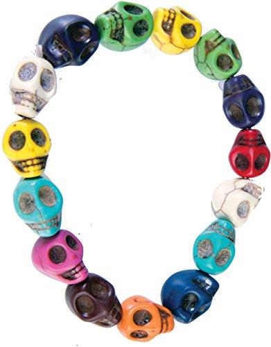 Day Of The Dead Multi Colored Skeleton Skull Bracelet Costume Accessory