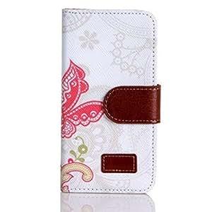 ABC® Iphone5 5G 5S Flower Wallet Magnet Design Cover Case