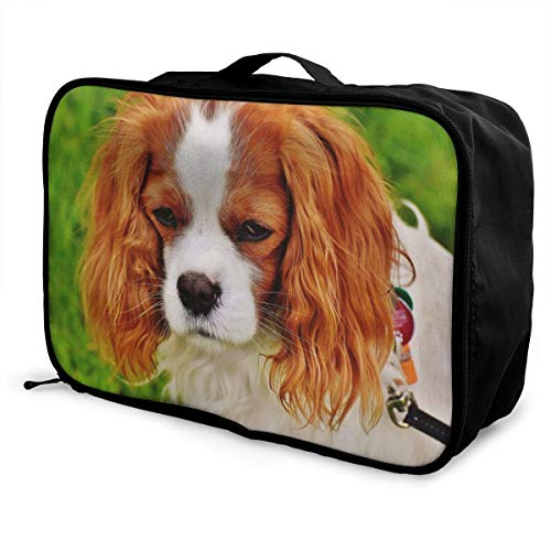 - Yunshm Dog Cavalier King Charles Spaniel Funny Pet Animal Trolley Handbag Waterproof Unisex Large Capacity For Business Travel Storage