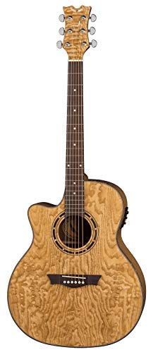 - Dean Exotica Quilt Ash Lefty Acoustic-Electric Guitar, Gloss Natural