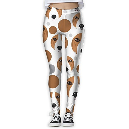 Womens Adorable Beagle Face Fit Full-length Leggings Athletic Yoga Capris Sweatpants Best For Jogging Hiking Gym Picture