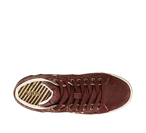 Distressed Taos Sneaker Star Top Women's Canvas Footwear Bordeaux 0qvwAg