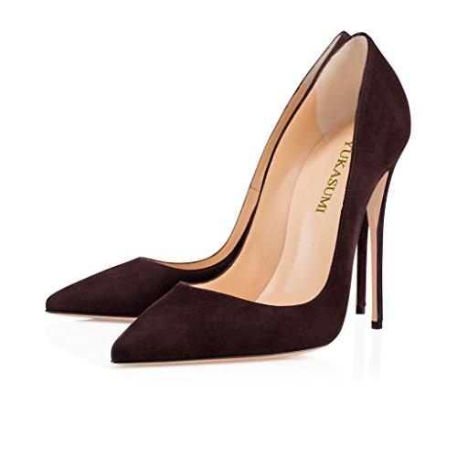 Handmade 120mm Coffee Blue Pumps Pointed Kate Party Womens Fashion Shoes Stiletto Slim EDEFS Classic Heel Toe ASO g4qXw5HHx