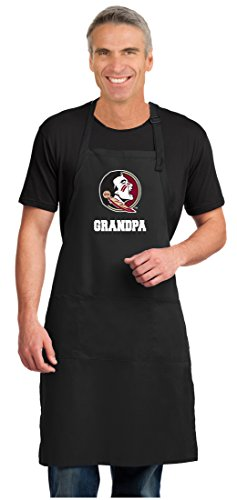 (Broad Bay Florida State Grandpa Apron Large Size FSU Grandpa Gift for Men or Women Man)