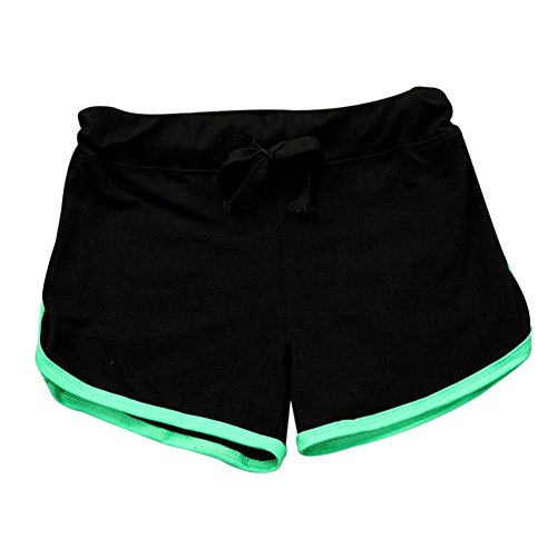 ❤️❤️Hot Sale New Fashion 2018 Clearance Among Women Shorts Summer Pants Women Sport Shorts Gym Workout Waistband Skinny Yoga Elastic Shorts (L, Black)