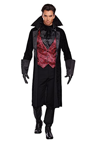 Dreamgirl Men's Bloody Handsome Costume, Black/Red, XX-Large - Gothic Costumes