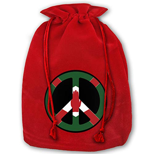 Halloween In Northern Ireland (The Symbol of Peace in Northern Ireland Velvet Christmas Gift Bag for Christmas Holiday Party - 14