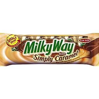 MILKY WAY Simply Caramel Milk Chocolate Fun Size Candy Bar, 4.42 Ounce
