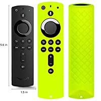 Covers for All-New Alexa Voice Remote for Fire TV Stick 4K, Fire TV Stick (2nd Gen), Fire TV (3rd Gen) Shockproof Protective Silicone Case - Chartreus