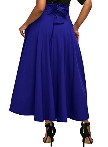 Sexy Blue Pleated Skirt - 9