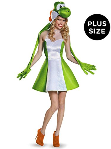 Disguise Women's Yoshi Female Costume, Green, X-Large ()