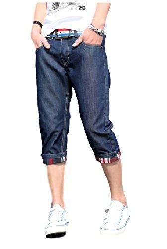 [パリド] デニム カジュアル ハーフ パンツ ストリート ショート 7分丈 ズボン S ~ XXL メンズ