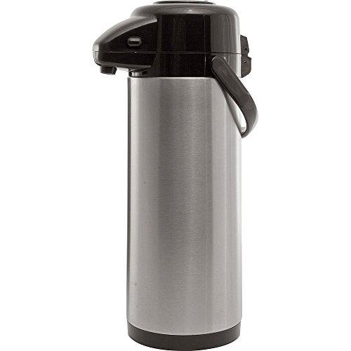 Economy Airpot - Service Ideas AXS30S Economy Airpot with Pump, Stainless Steel Lined, 3 L