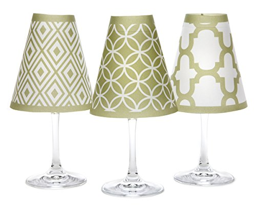 di Potter Wine Glass Shades, Set of 6, Barcelona Oasis Green