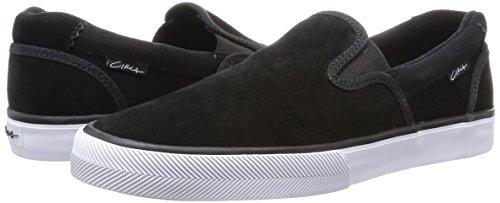 C1RCA Men's Corpus Skate Shoe, Black/White, 9.5 M US