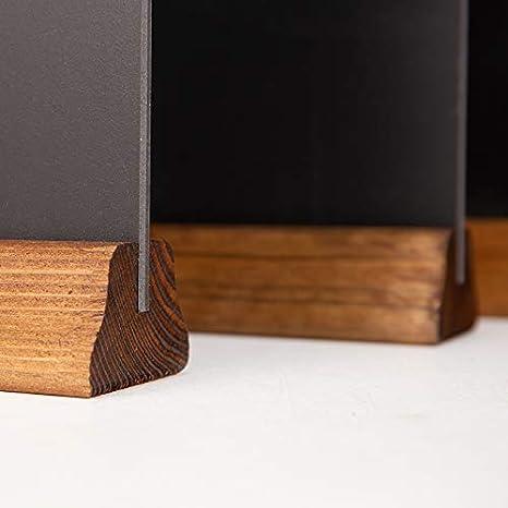 Kreidetafel UK A5 Tischkreidetafel mit Holzsockel Holz 23 x 15 x 4 cm rustikales Braun