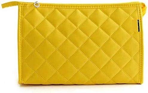 屋外旅行 ハンドバッグ キャンディーカラーの化粧品袋 収納袋 yellow 19.5*13*5cm