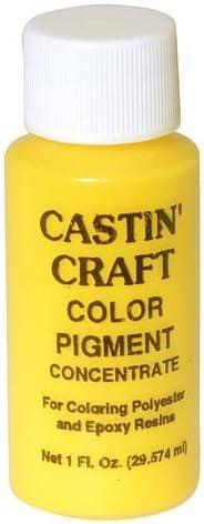 Tinte con pigmento de color amarillo opaco para resina epoxi, de Castin Craft, 29,57 ml