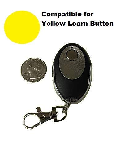 Craftsman Garage Door Opener Key Chain 1B Remote Transmitter Yellow Learn Button (Door Transmitter Garage Keychain Opener)
