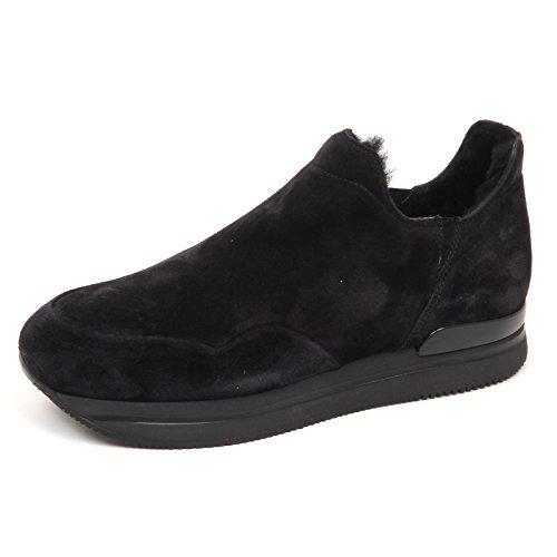 E4786 Slip Donna Sneaker Shoe Nero H222 Woman Scarpe Pelo Nero Hogan Interno on g4grw