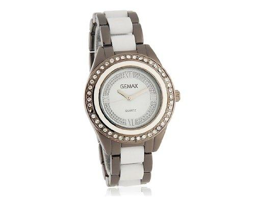 Reloj análogo de las mujeres elegantes con Replica cerámica Correa (Blanca) M.: Amazon.es: Relojes
