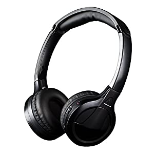 Wireless TV Headphones – Jelly Comb Wireless RF Stereo Headphones Headset Earphone with 3.5mm Audio-Out Jack for TV, Cell Phone, Laptop, Upgraded Auto Scan and Auto Sleep (Black)