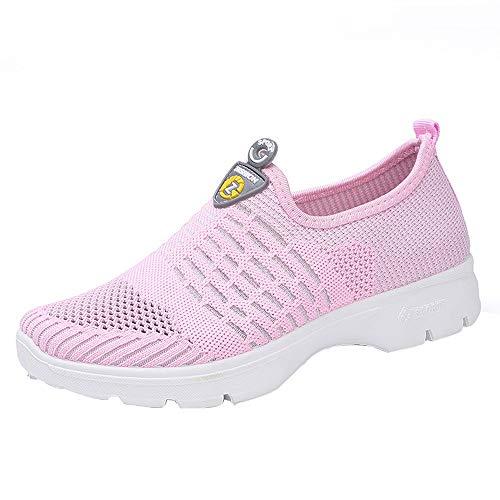 Zapatos Zapatos Malla para Casuales Zapatillas Mujeres Gimnasia Gimnasia Sin De Rosado OHQ Transpirables De Mujer Mocasines Correr De Botas Suaves para Zapatos Cordones nHqZfx4xw