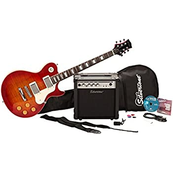 Silvertone SSL3 Electric Guitar and Amp Package, Vintage Cherry Sunburst