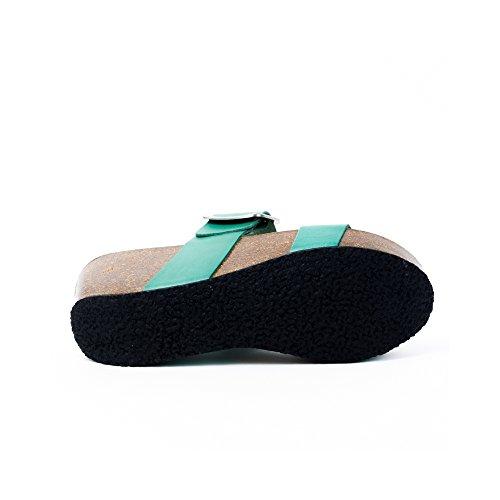 Plakton Plakton Donna Sabot sandali Donna Verde sandali Sabot Verde RWArRIq