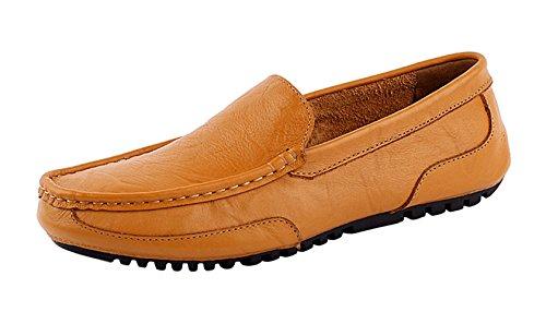 Conducción On para Zapatillas Loafers Zapatos Moda SK Cuero Amarillo Stutio Negocio Planos de Casual Hombre Slip Mocasines de 6w6qOIxa1