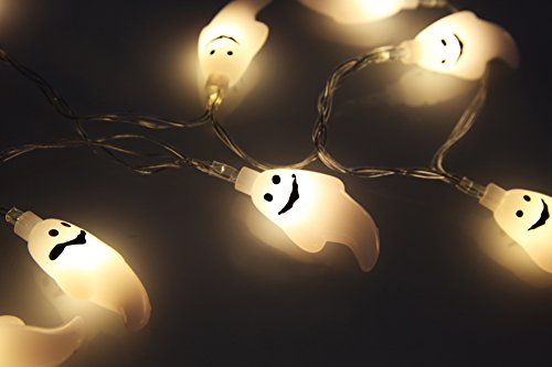 (Velice Battery Operated LED Fairy String Lights 20 Ghost Lights Halloween Christmas Decoration Lights (Ghost)