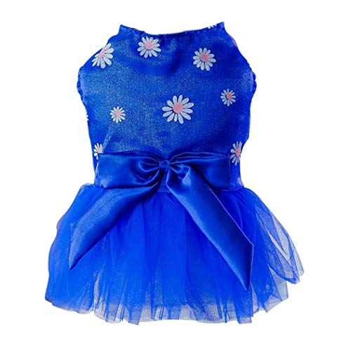 YOTATO Daisy Winter Small Dogs Dress Spring Summer Puppy Small Dog Lace Princess Clothes