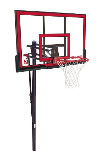 Spalding NBA In-Ground Basketball System - 48'' Polycarbonate Backboard by Spalding