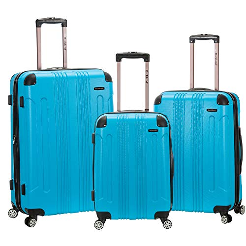 Rockland 3 Piece Sonic Abs Upright Set, Turquoise, One Size