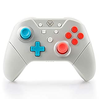 Switch Pro Controller, Wireless Gamepad Joystick Controller for Nintendo Switch, with NFC & Motion Control, Built-in Amiibo & Wake-Up Feature, Adjustable Rumble & Turbo Button, Also Support PC/Android