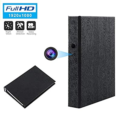 Spy Camera Book Hidden Camera HD 1080P Nanny Camera Covert Home Security Cam Motion Detection Video Recorder 10000mAh Battery Super Night Vision from GooSpy