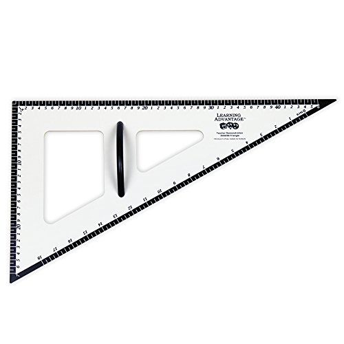 Learning Advantage 7594 Dry Erase Magnetic Triangle, 30/60/90 Degree