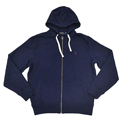 - Polo Ralph Lauren Mens Classic Full-Zip Fleece Hoodie (Navy, X-Large)
