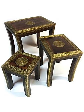 Orientalische Beistelltische amazon de arabischer tisch ilkin mittel 34cm