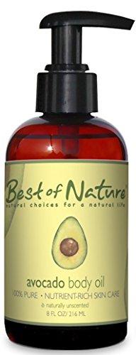 Avocado Body Oil - 8 oz - 100% Pure & Natural - For Body & H